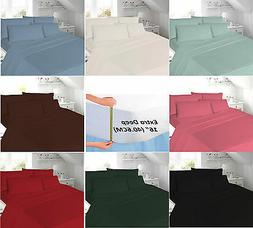 Extra Deep Fitted sheets T180 Percale 16 Inch Single Double