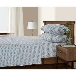 SERENDIPITY 200 Thread Count Printed Percale Sheet Set, Full