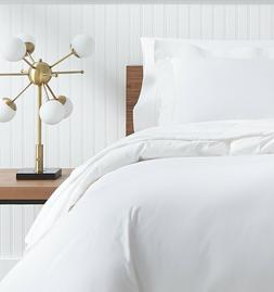 ANALISA BY SFERRA ITALY, WHITE COTTON PERCALE 4-PIECE SHEET
