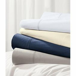 Crate & and Barrel 400 THREAD-COUNT PERCALE SHEET SET- QUEEN