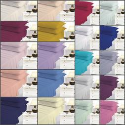 Easy Care Plain Dyed Extra Deep 40'' Fitted Bed Sheet Percal