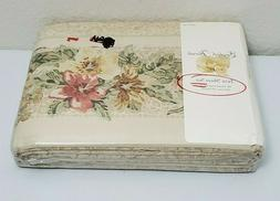 English Florals Twin Sheet Set 180 Thread Count Percale Pill