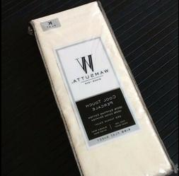 New IVORY Wamsutta Cool Touch Percale 350TC 100% Egyptian Co