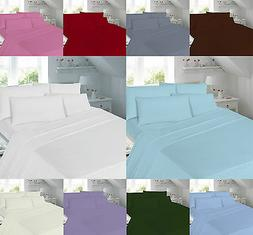 """Percale T180 Extra Deep 16"""" Valance Fitted Flat  Sheet Singl"""