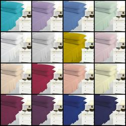 Poly-Cotton Percale Flat Bed Sheet Plain Dyed Size Single Do