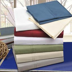 Solid 300-Thread Count Cotton Percale Pillowcase Set